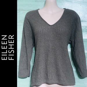 Eileen Fisher V-Neck 3/4 Sleeve Top XL